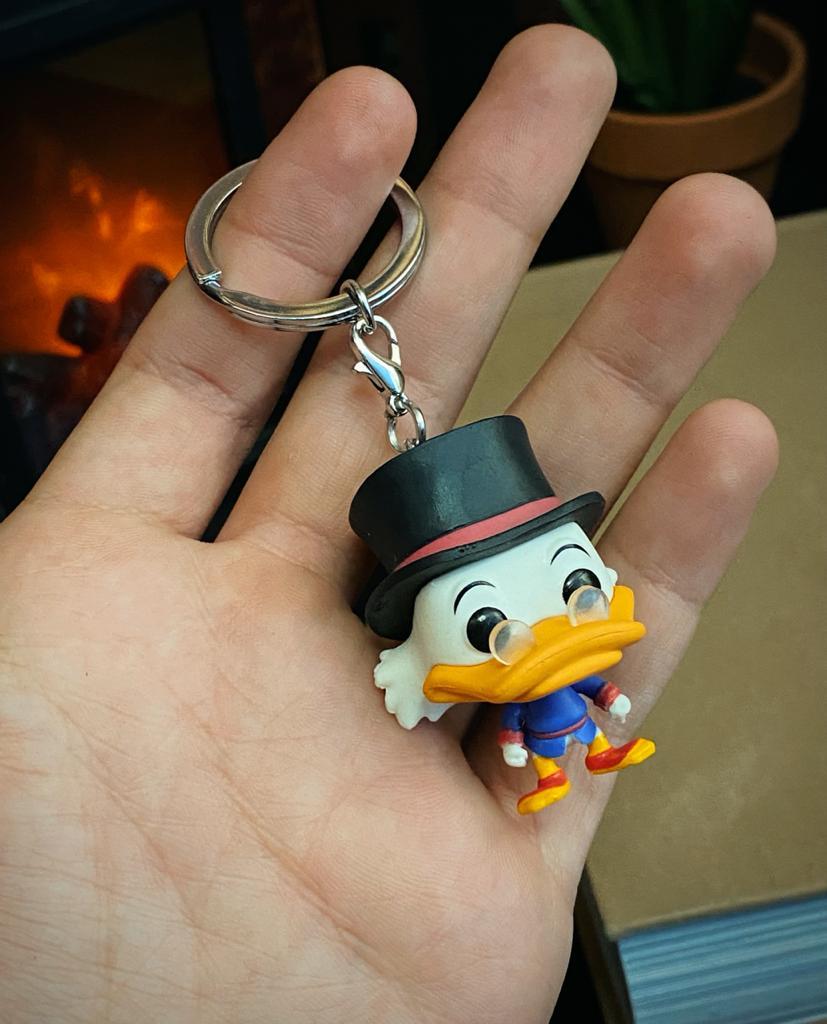 Funko Pocket Pop Keychains Chaveiro Tio Patinhas Scrooge McDuck: DuckTales - Funko - MKP
