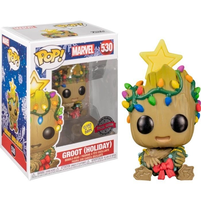Funko Pop! Baby Groot Holiday: Guardiões da Galáxia Edição Especial Glow In The Dark #530  Marvel - Funko
