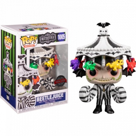 Funko Pop! Beetlejuice Com Chapéu Os Fantasmas se Divertem #1005 Exclusivo - Funko
