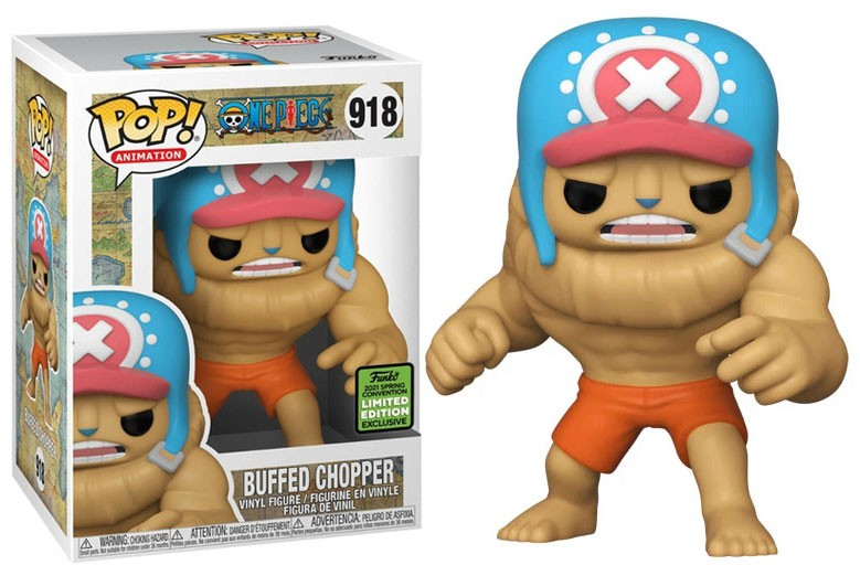 Funko Pop! Buffed Chopper: One Piece Edição Limitada 2021 Convenção de Prima Vera - Spring Convention #918 - Funko
