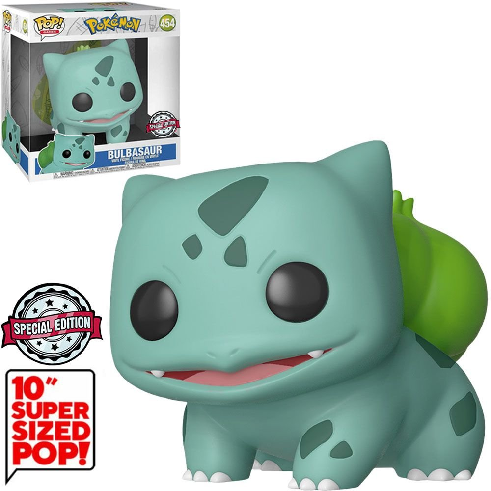 Funko Pop! Bulbasaur: Pokémon Super Sized 10'' Edição Especial Exclusivo #454 - Funko