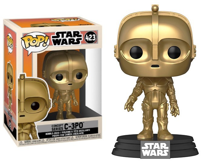 PRÉ VENDA: Funko Pop! C-3PO: Star Wars Concept Series #423 - Funko