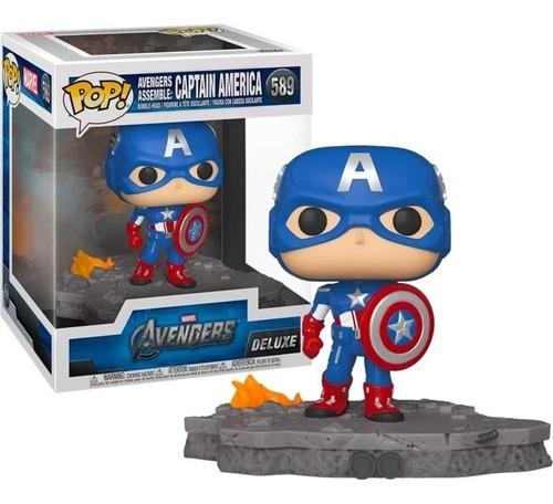 Funko Pop! Capitão América Avante Captain América Assemble: Vingadores Avengers Exclusivo #589 Marvel - Funko