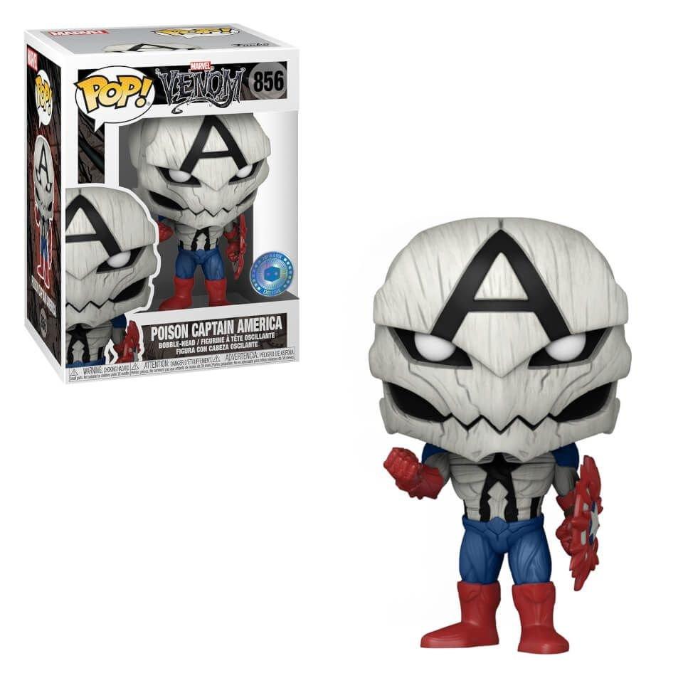 Funko Pop! Capitão América Poison: Venom Marvel Edição Especial Special Edition #856 - Funko