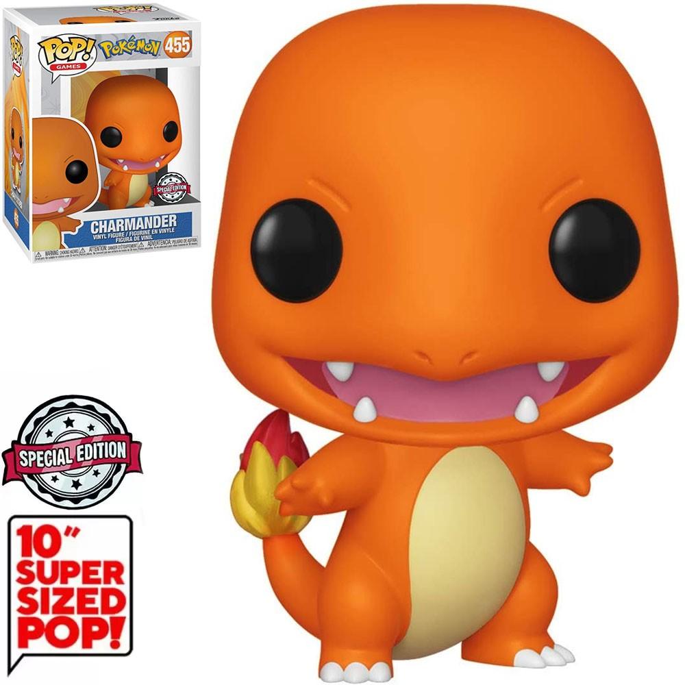 Funko Pop! Charmander: Pokémon Super Sized 10'' Edição Especial Exclusivo #456 - Funko