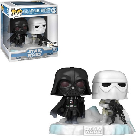 Funko Pop! Darth Vader & Snowtrooper: Star Wars O Império Contra-Ataca 40 Empire Strikes Back Exclusivo #377 - Funko