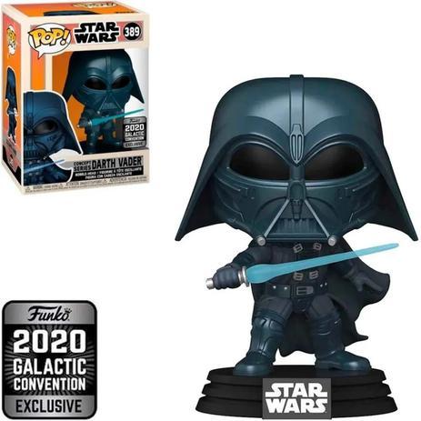 Funko Pop! Darth Vader: Star Wars Guerra Nas Estrelas Concept Series 2020 Galactic Convention Exclusive Exclusivo #389 - Funko