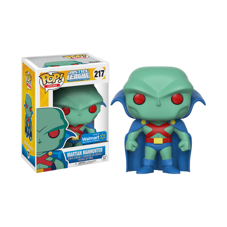 Funko Pop! Caçador de Marte (Martian Manhunter): Justice League Animated (DC Heroes) Exclusivo #217 - Funko Black Friday (Apenas Venda Online)