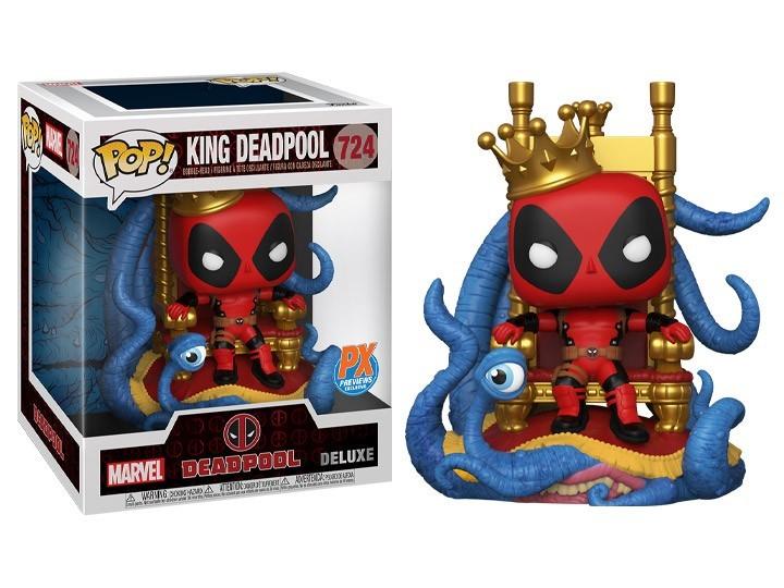 Funko Pop! DeadPoll: King Deadpool Deluxe (Exclusivo) Edição Limitada Marvel #724 - Funko