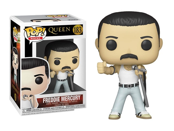 Funko Pop! Freddie Mercury (Radio GaGa 1985): Queen  #183 - Funko
