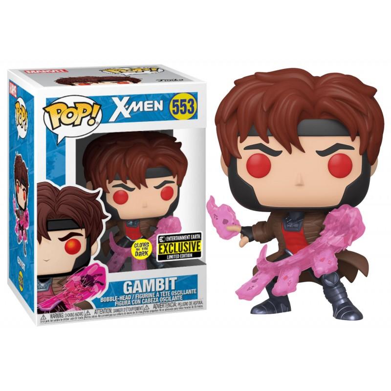 Funko Pop! Gambit: X-Men Clássico Classic #553 Glows In The Dark Exclusivo Exclusive Entertainment Earth - Funko