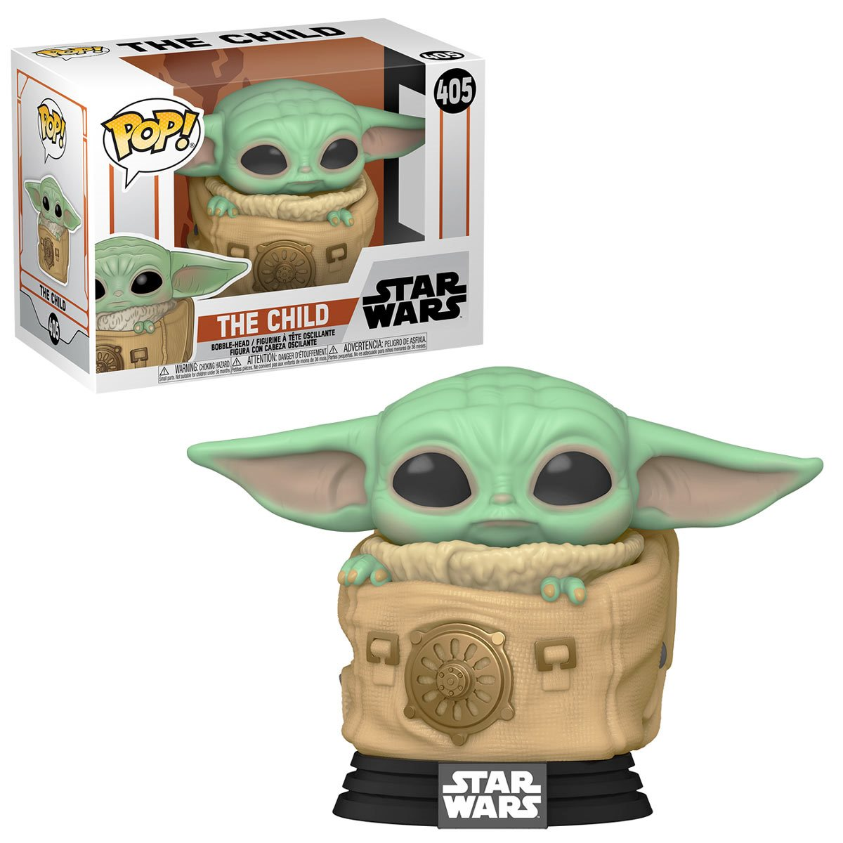 Funko Pop! Grogu ''Baby Yoda'' na Bolsa ( Child with Bag): The Mandalorian ( Star Wars )  #405 - Funko