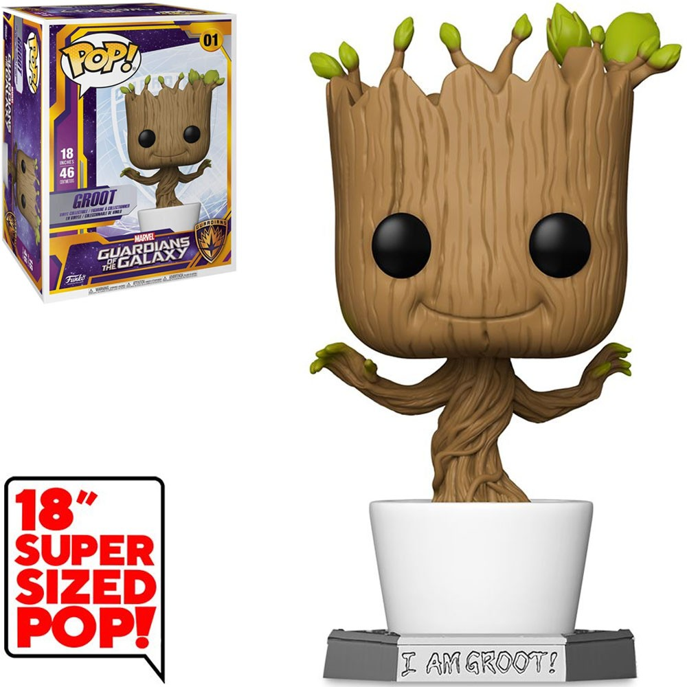 Funko Pop! Groot: Guardioes da Galáxia Guardians Of The Galazxy  Super Sized 18'' #01 Marvel - Funko