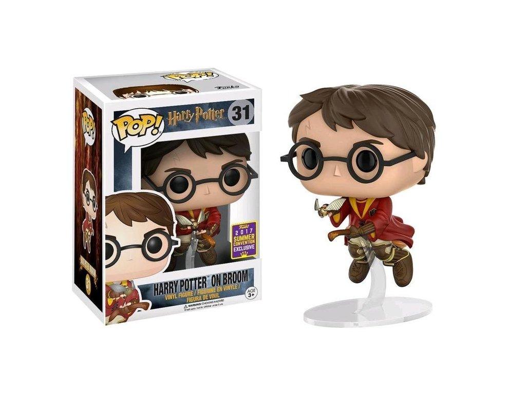 Funko Pop! Harry Potter Na Vassoura On Broom: Harry Potter Exclusivo Glows in the Dark SDCC 2017 #31 - Funko