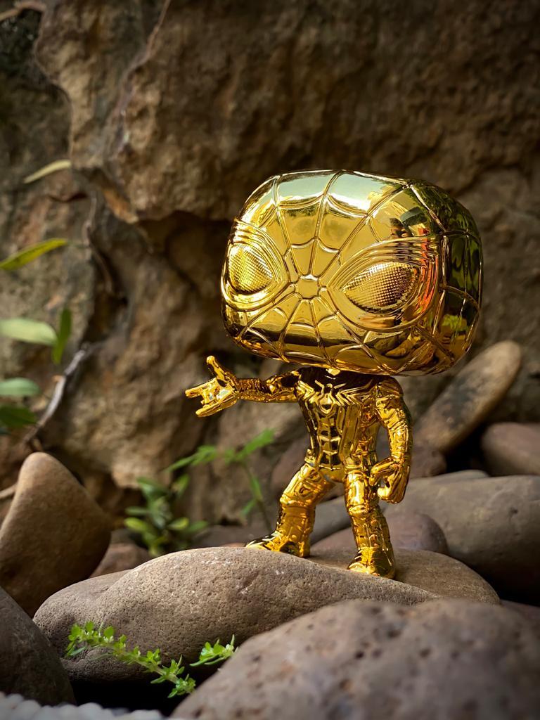 Funko Pop! Homem Aranha (Spider Man) (Gold Chrome):  Marvel Studios The First Ten Years #440- Funko