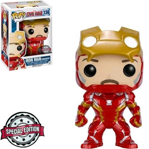 Funko Pop! Homem de Ferro Iron Man: Capitão América Guerra Civil Civil War #136 Exclusivo Special Edition - Funko