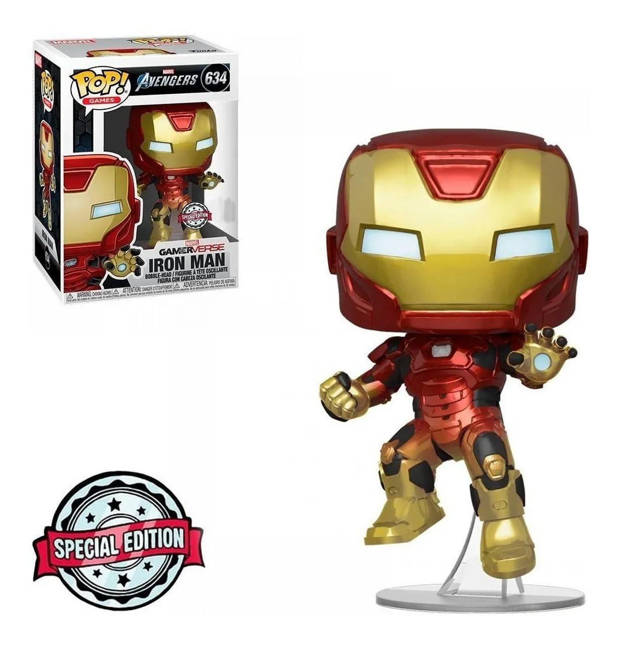 Funko Pop! Homem de Ferro (Iron Man): Vingadores (Avengers) Gamerverse (Marvel) #634 - Funko