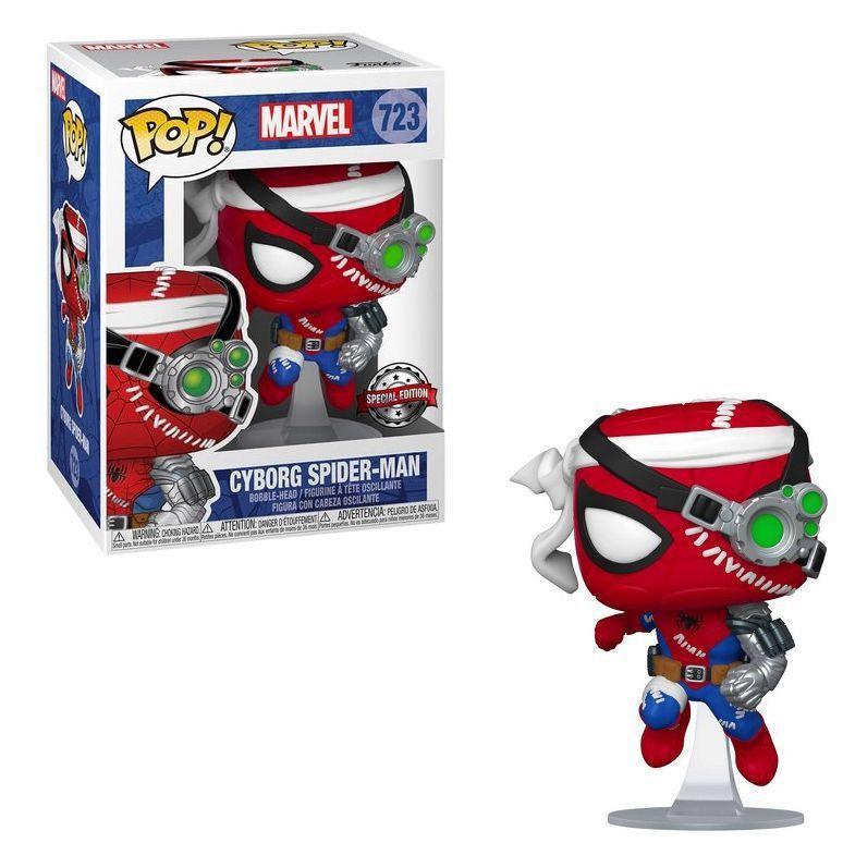 Funko Pop! Homen Aranha Cyborg Spider-Man: Marvel Edição Especial #723 - Funko