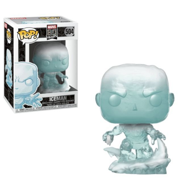 Funko Pop! Iceman: Marvel (80th Anniversary) #504 - Funko