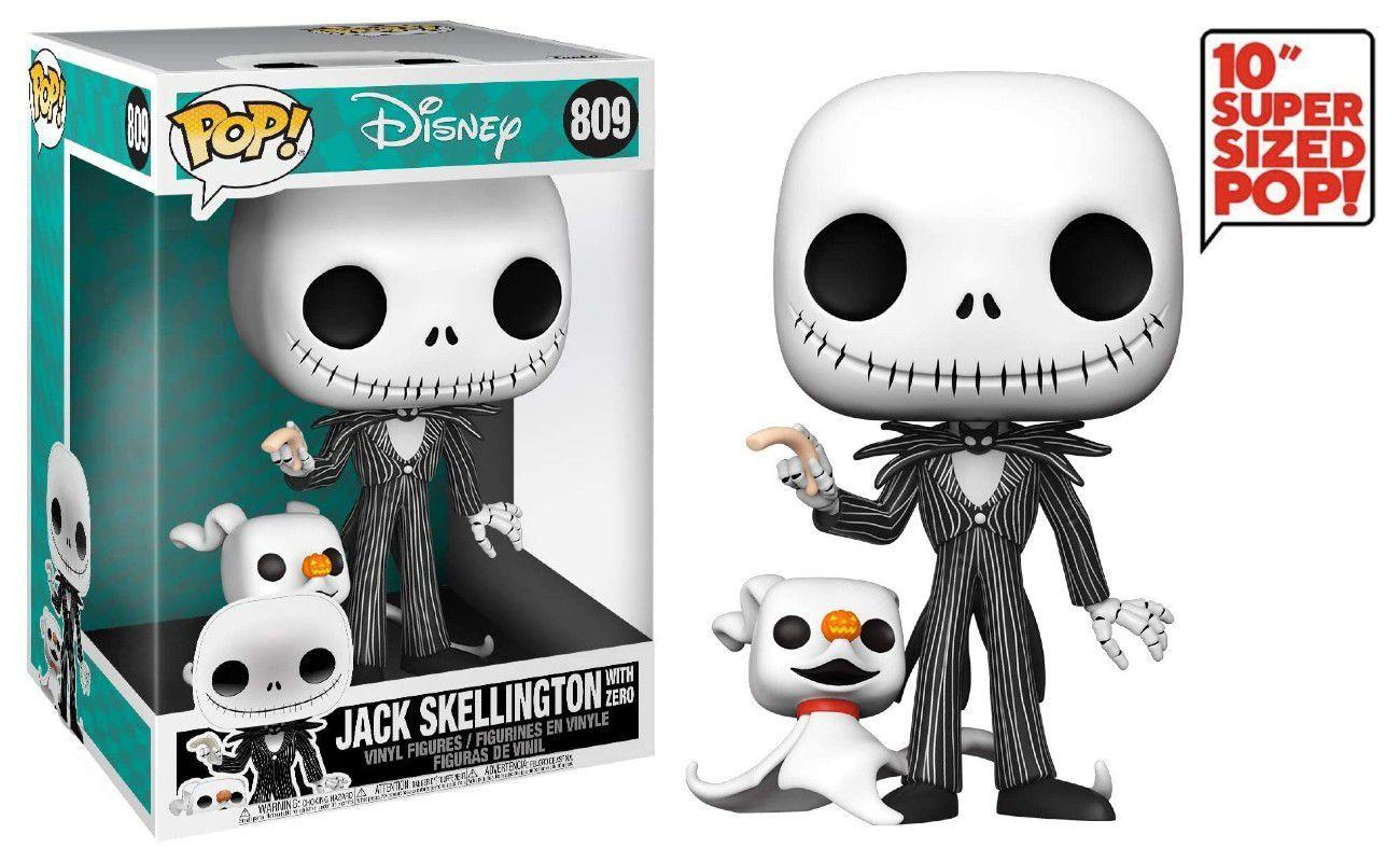 Funko Pop! Jack Skellington With Zero Super Sized 10'': The Nightmare Before Christmas Disney #809 -  Funko