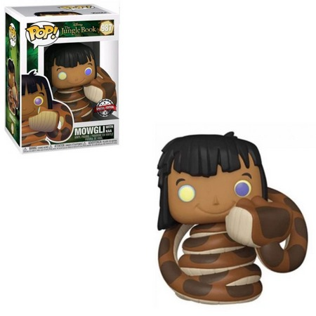 Funko Pop! Mogli e Kaa Mowgli With Kaa: Mogli O Livro da Selva The Jungle Book Edição Especial #987 - Funko