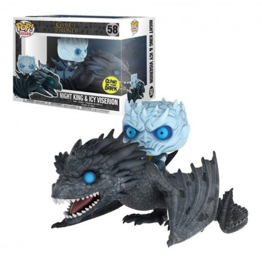 Funko Pop Night King no Viserion - Night King On Viserion Glow In The Dark : Game of Thrones #58 - Funko