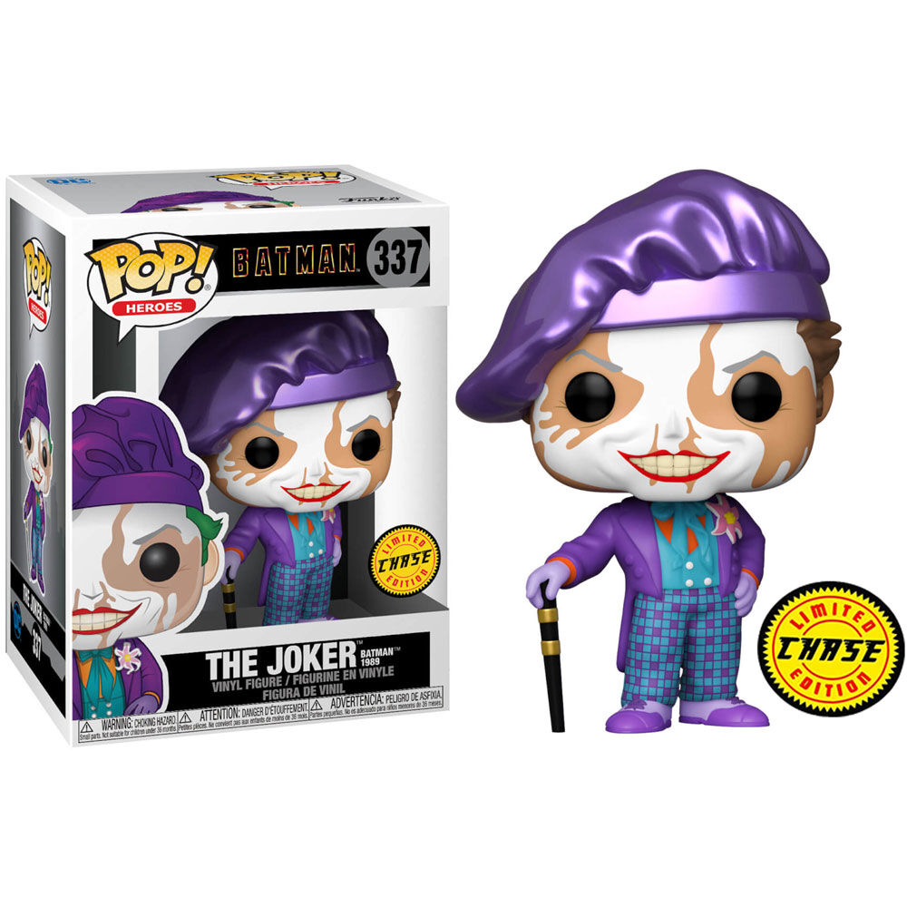Funko Pop! O Coringa The Joker - Batman 1989 Chase Edição Limitada Limited Edition #337 - Funko