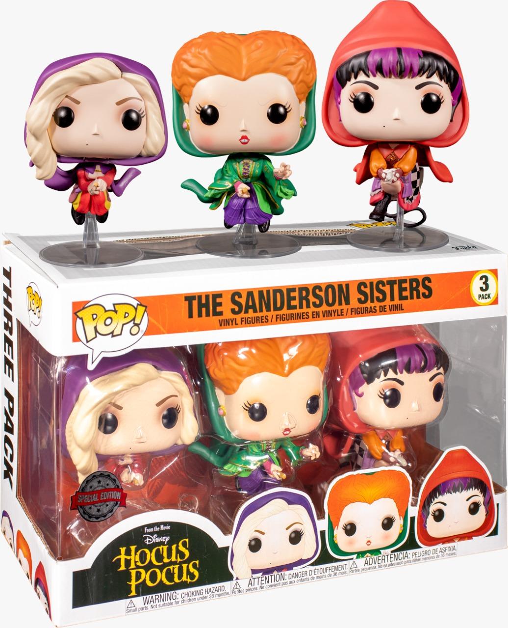 Funko Pop! Pack Com 3 As Irmãs Sanderson The Sanderson Sisters Winifred, Mary, Sarah: Hocus Pocus Abracadabra - Funko