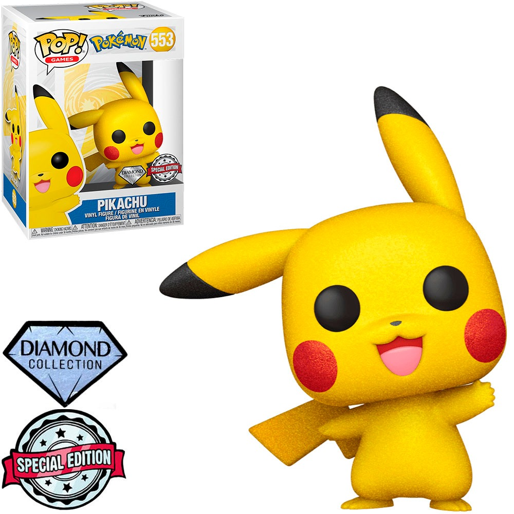 Funko Pop! Pikachu: Pokémon Edição Especial Special Edition Diamond Collection #553 - Funko