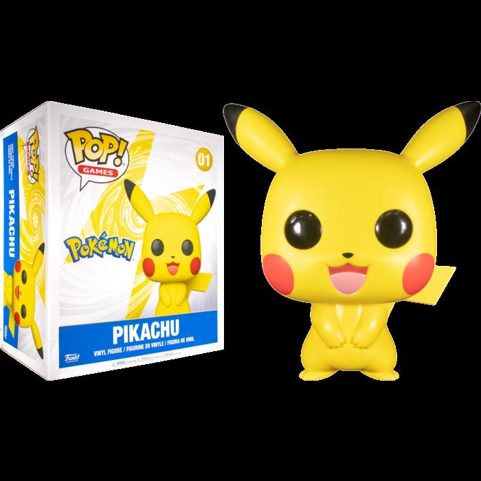 """Funko Pop! Pikachu: Super Sized 18"""" (45x38) Pokémon #01 - Funko"""