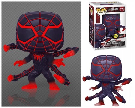 Funko Pop! Spider-Man Miles Morales Programmable Matter Suit: Games: Marvel's  Glow In The Dark Exclusivo #775- Funko