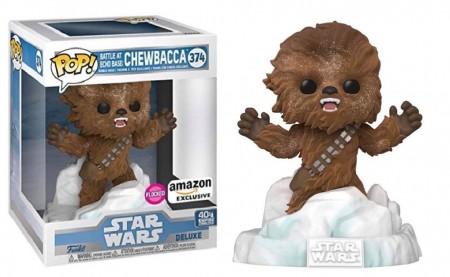 Funko Pop! Star Wars: Chewbacca Deluxe Flocked (Exclusivo) #374 - Funko