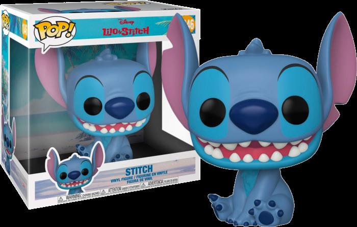 Funko Pop! Stitch Super Sized 10': Lilo e Stitch Disney #1046 - Funko