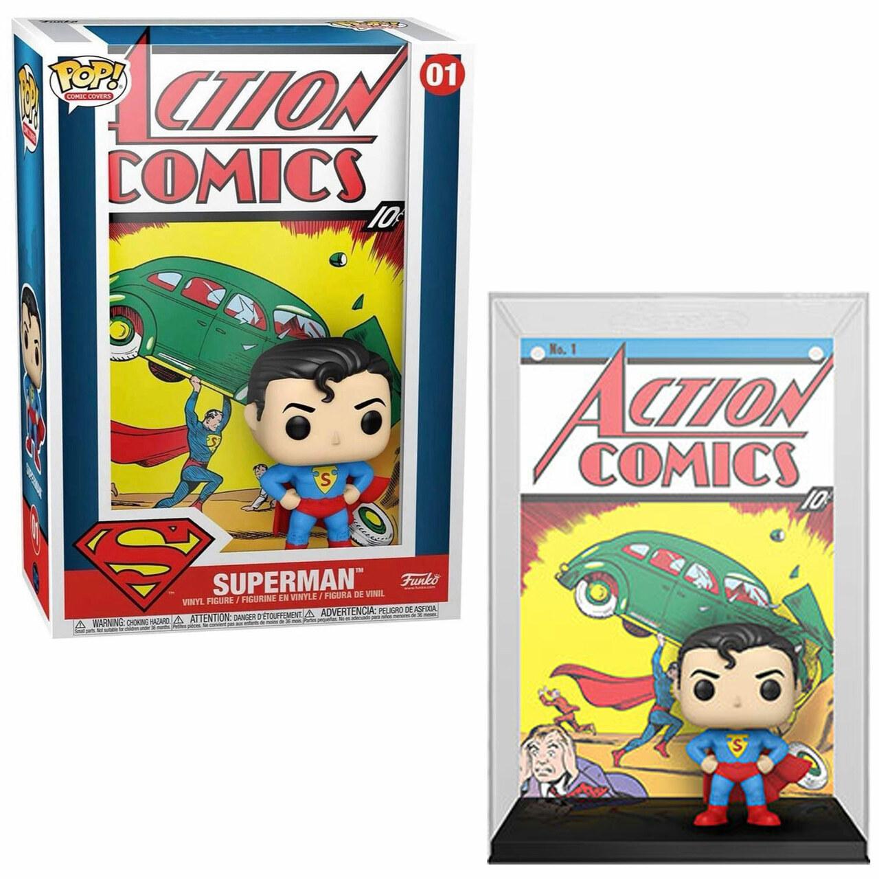 Funko Pop! Super Homem Super Man Clássico: Action Comics DC Comics HQ 01 Comic Cover #01 - Funko