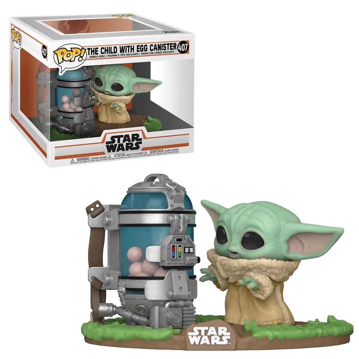Funko Pop! The Mandalorian: Grogu ''Baby Yoda'' com Canister Deluxe (The Child with Canister Deluxe) Star Wars #407 - Funko