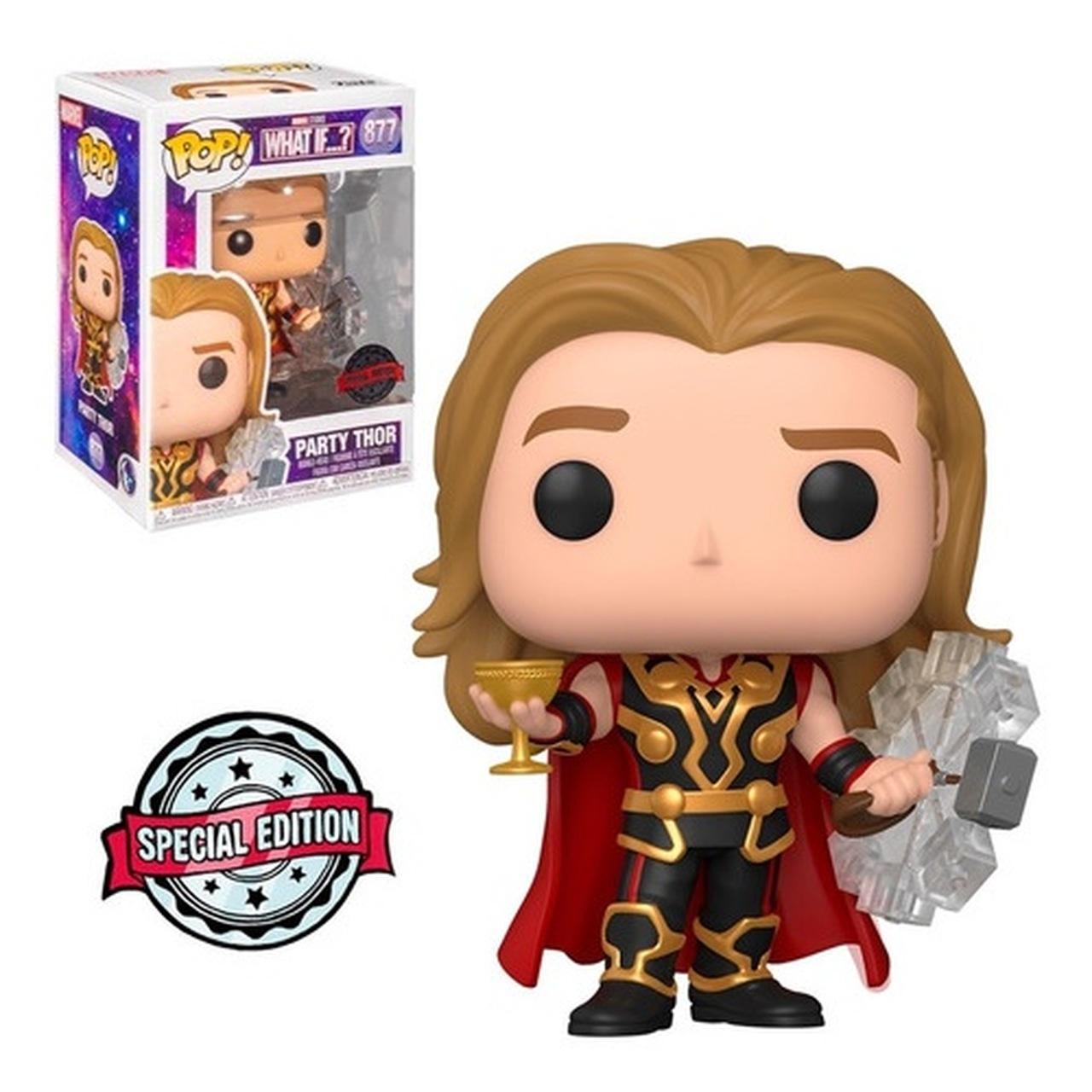 Funko Pop! Thor Festa Party Thor: What If...? Marvel Disney+ Edição Especial Special Edition #877 - Funko
