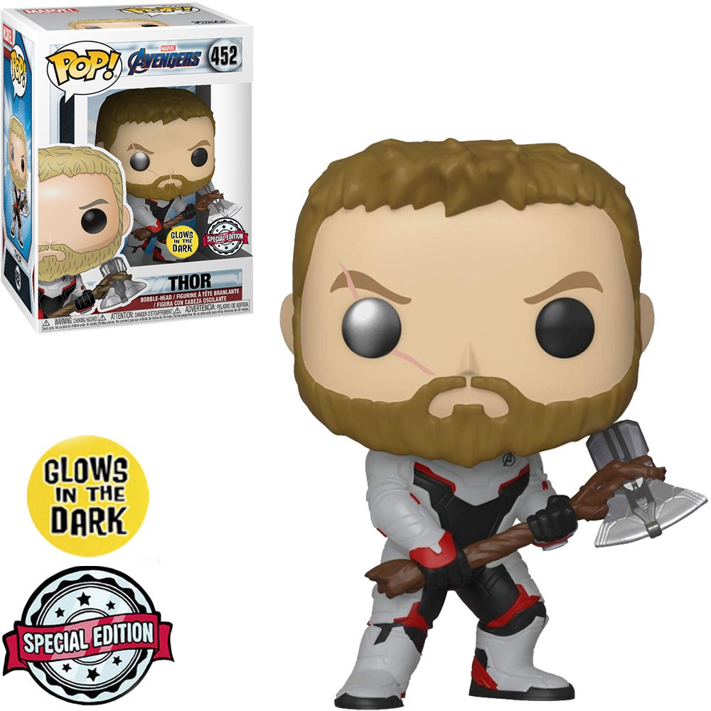 Funko Pop! Thor: Vingadores Ultimato (Avengers Endgame) #452 Exclusivo Special Edition Glows In The Dark - Funko