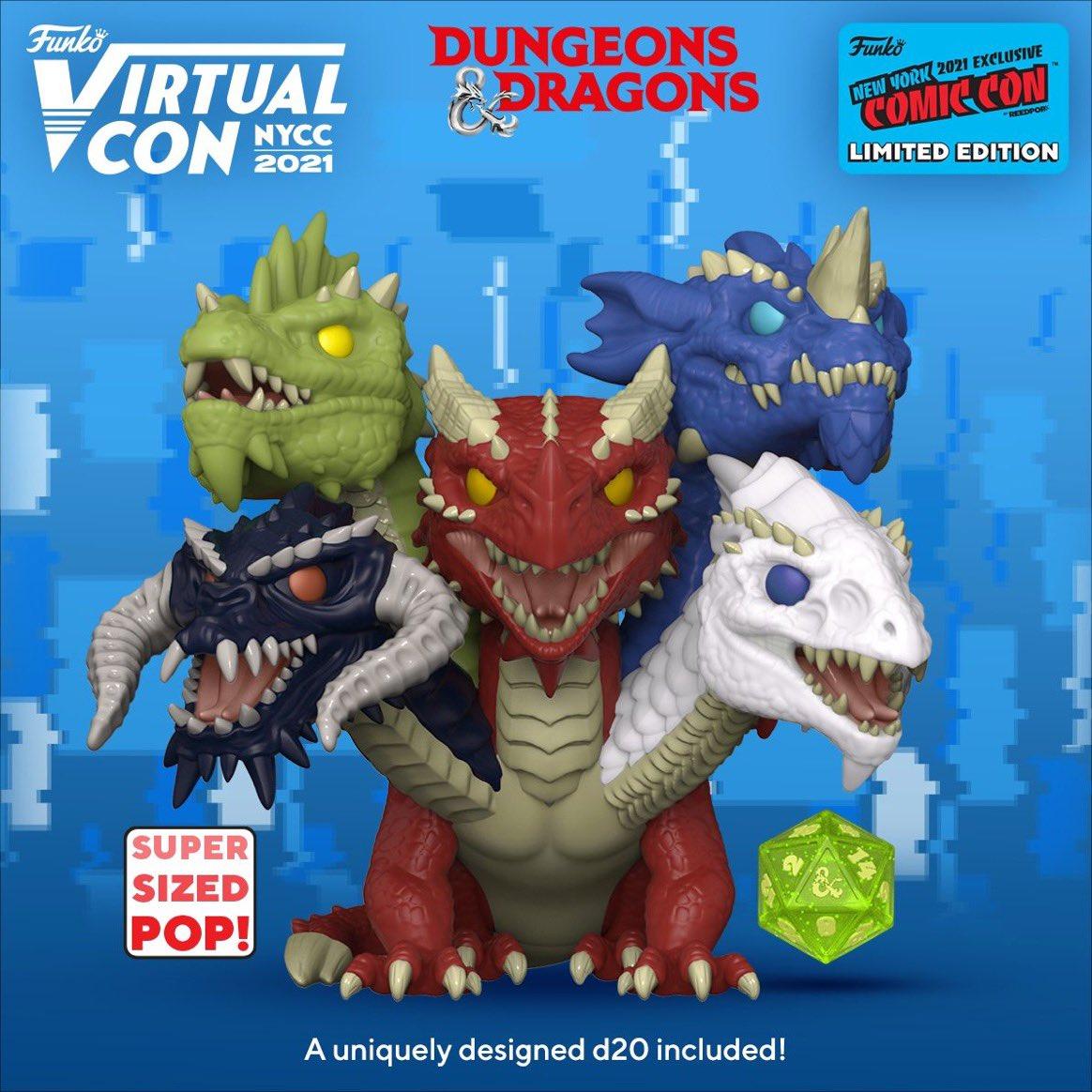 Funko Pop! Tiamat Rainha Dos Dragões Caverna do Dragão: Dungeons & Dragons D&D Super Sized Virtual Con NYCC 2021 Edição Limitada Limited Edition - Funko