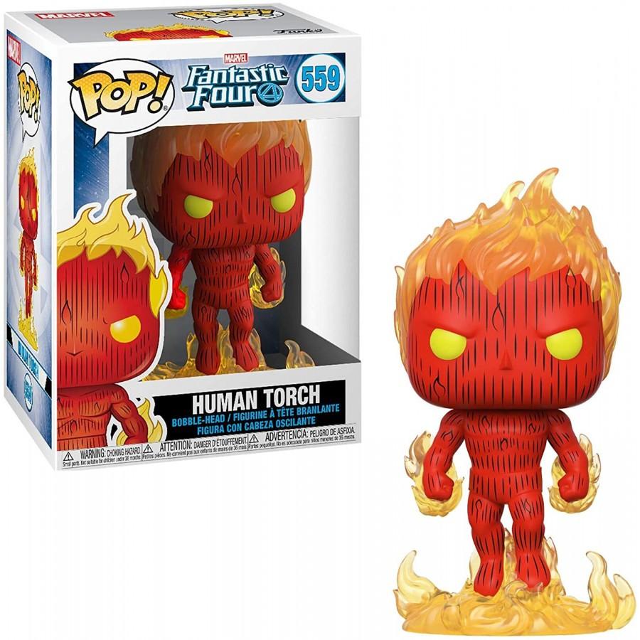 Funko Pop! Tocha Humana (Human Torch): Quarteto Fantástico (Fantastic Four) #559 - Funko