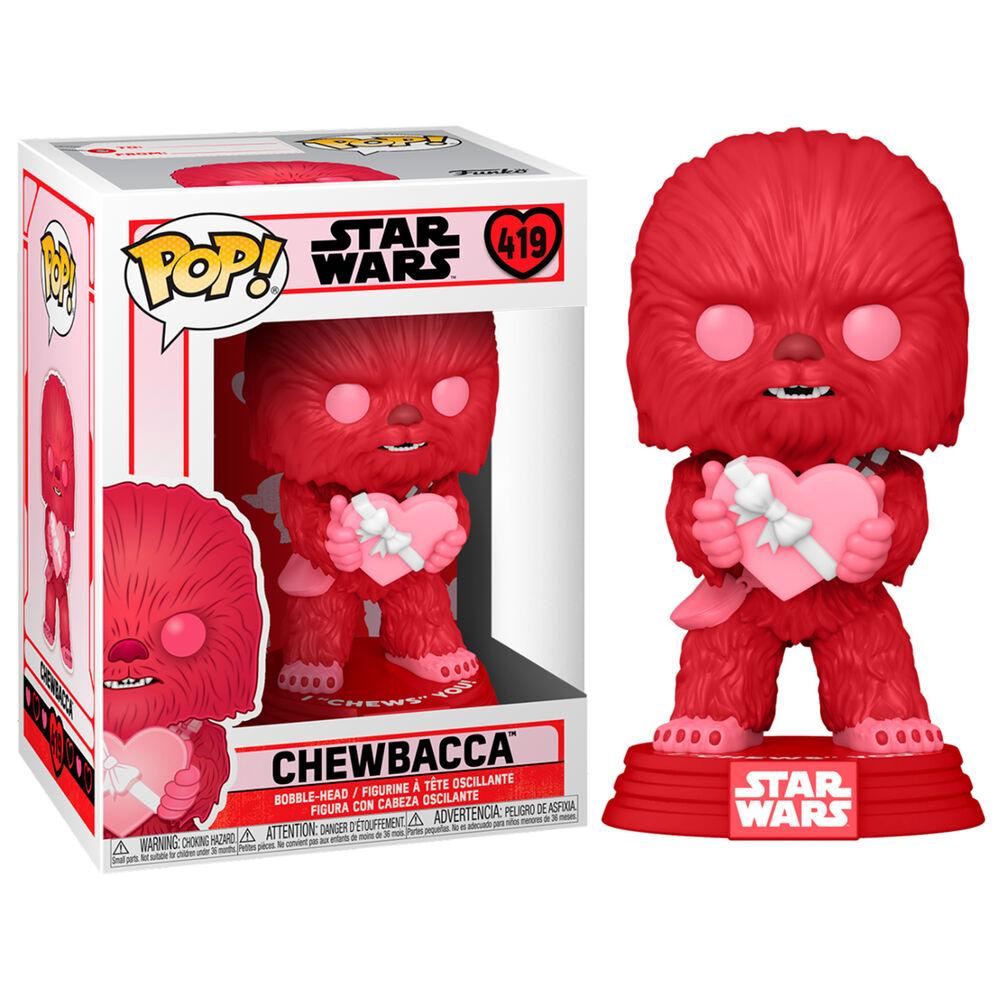 Funko Pop! Valentines Chewbacca with Heart Chewbacca com Coração Dia dos Namorados: Star Wars #419 - Funko