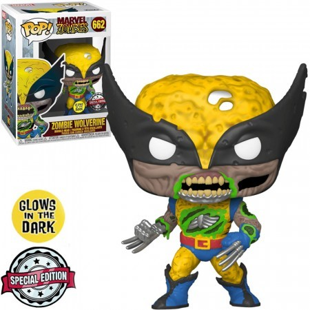 Funko Pop! Wolverine Zombie: Marvel Zombies X-Men #662 Glwos In The Dark Exclusivo Special Edition - Funko
