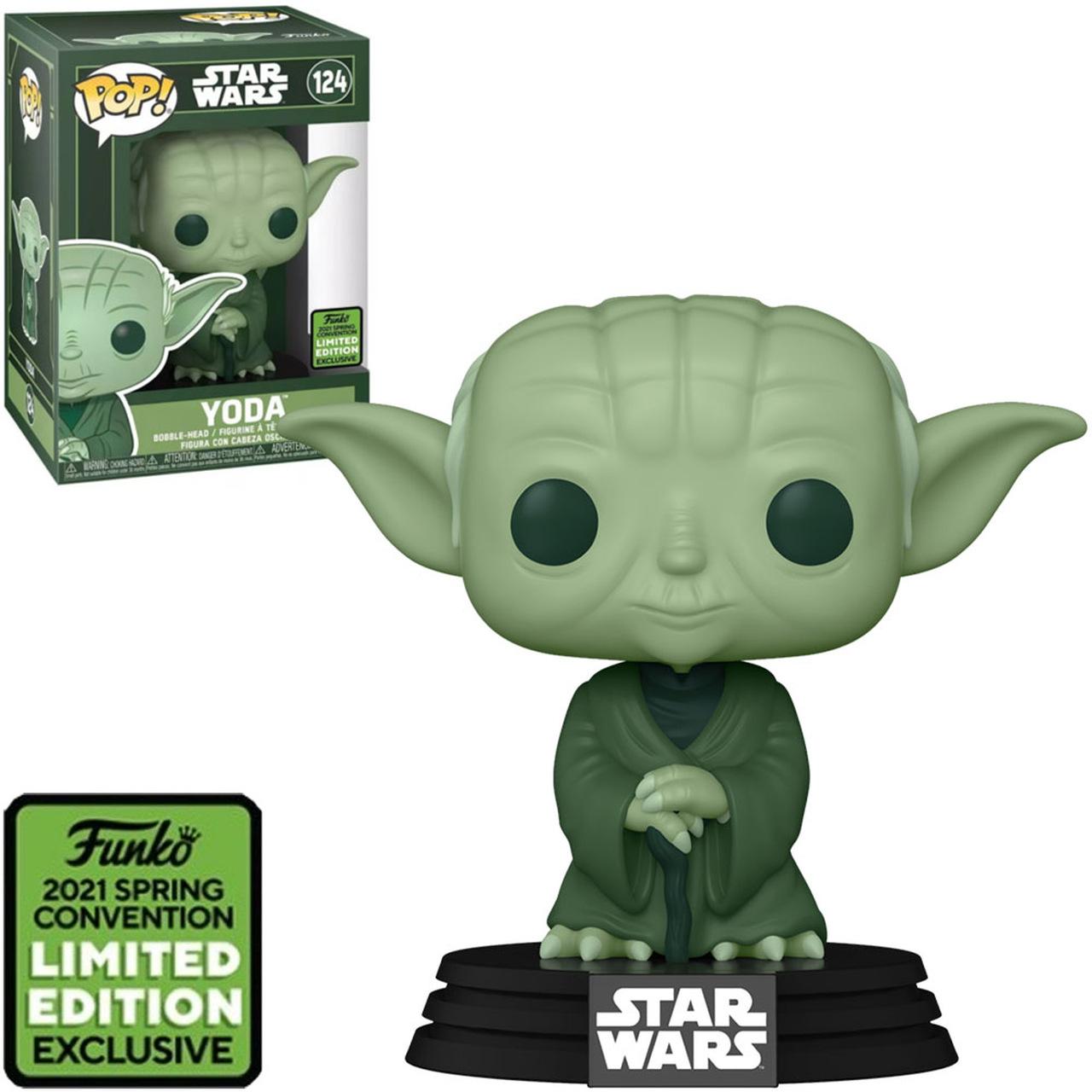 Funko Pop! Yoda: Star Wars Edição Limitada 2021 Convenção de Prima Vera - Spring Convention #124- Funko