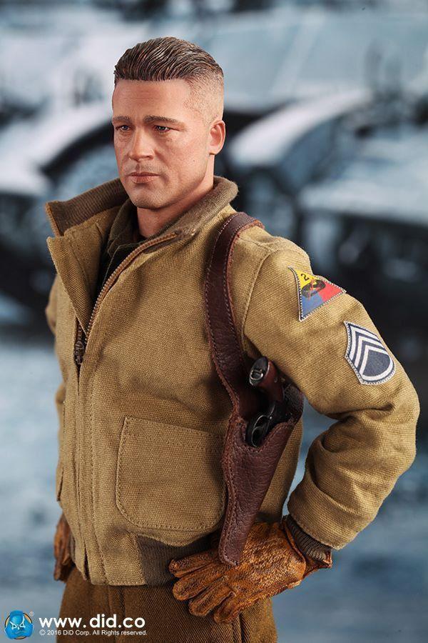 Fury Corações de Ferro: Sargento Wardaddy Escala 1/6 - DID Corporation