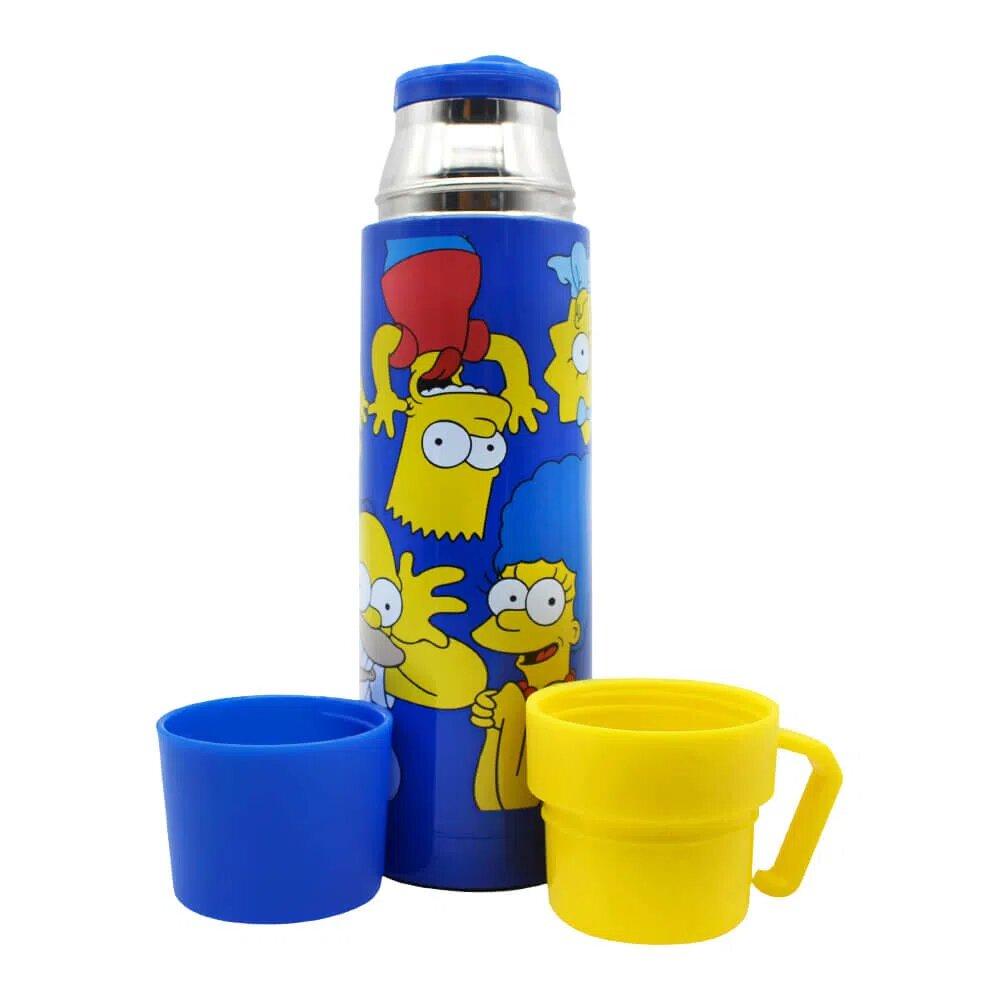 """Garrafa C/2 Tampas Canecas """"Careta Simpsons"""": Os Simpsons - Zona Criativa"""