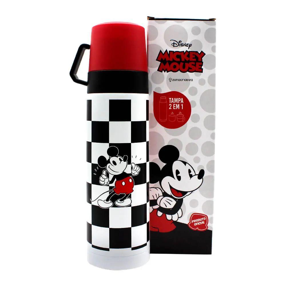 Garrafa (C/2 Tampas Xícara): Mickey Mouse (Disney) - (500ML)