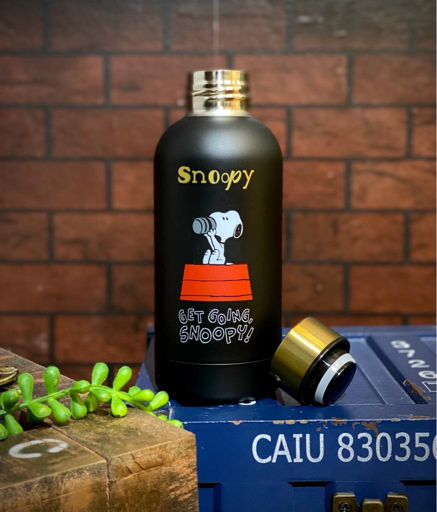 Garrafa Cantil Emborrachado Get Going Snoopy: Peanuts 400ML - Zona Criativa