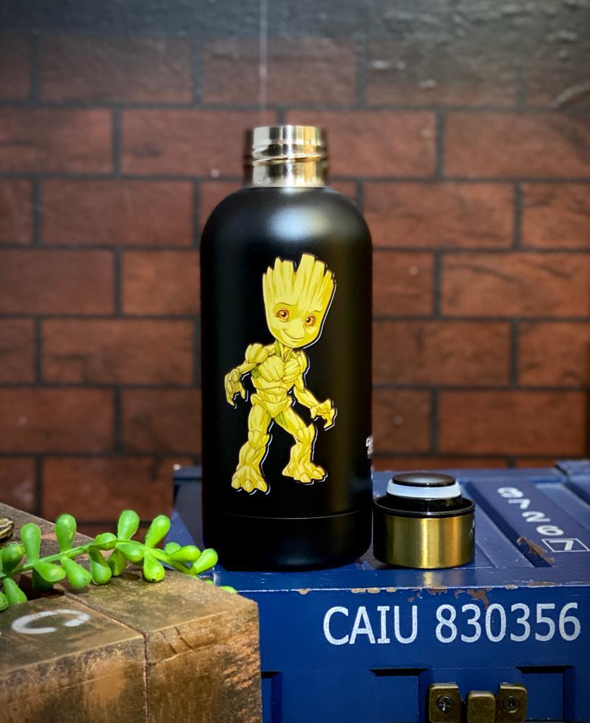 Garrafa Cantil Emborrachado Groot: Guardiões da Galáxia Marvel 400ml