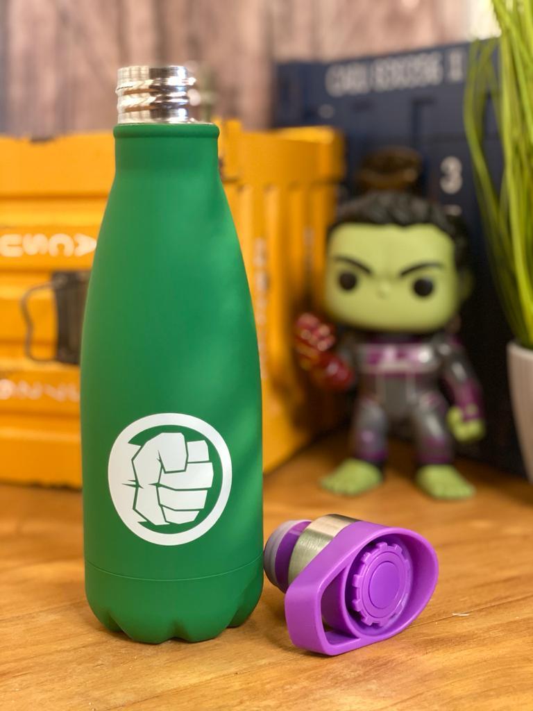 Garrafa Cantil Hulk: Vingadores (Avengers) - Marvel - (350ML)