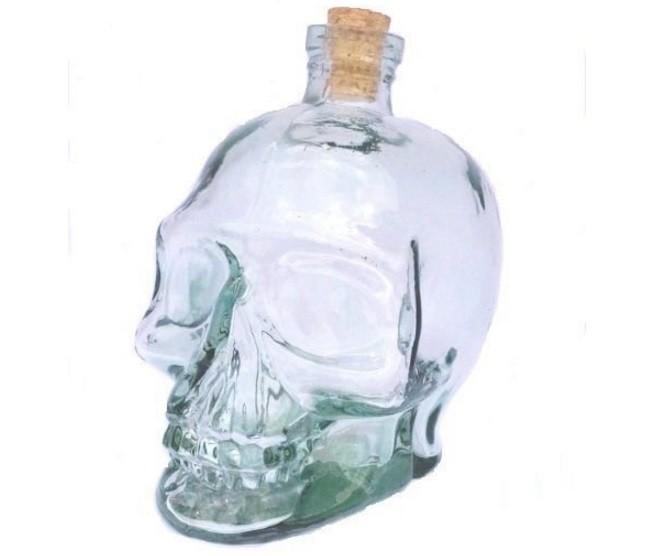 Garrafa Caveira de Vidro ''Decante'' Skull Head - 750ml