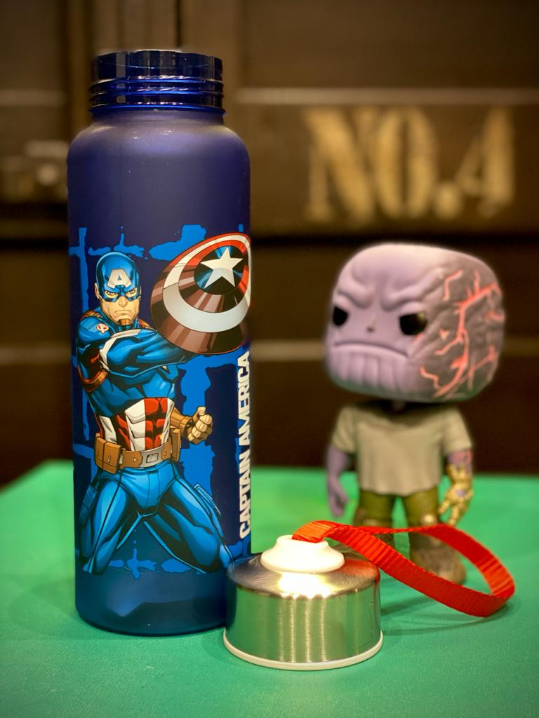 Garrafa Com Alça Super Soldier: Capitão América (Captrain America) Marvel (700ml)